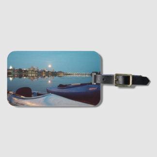 Kayaking bagagemärkre för månsken bagagebricka