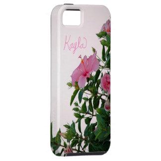 Kayla för rosablommapersonlig iphone case iPhone 5 skydd