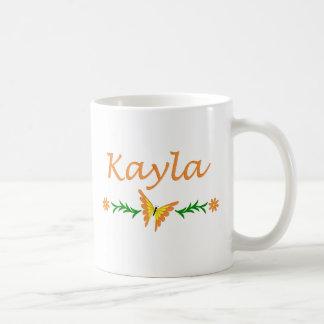 Kayla (orange fjäril) vit mugg