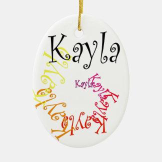 Kayla Ovalformad Julgransprydnad I Keramik
