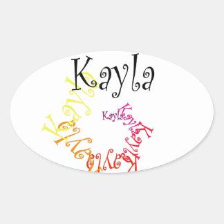 Kayla Ovalt Klistermärke