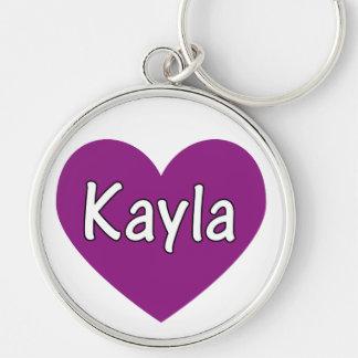 Kayla Rund Silverfärgad Nyckelring