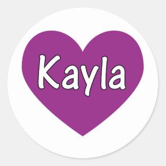 Kayla Runt Klistermärke