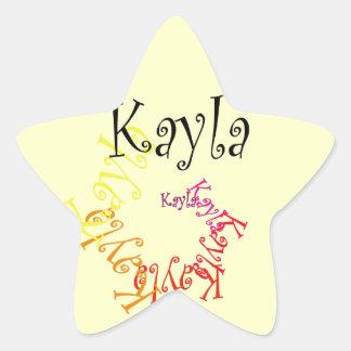 Kayla Stjärnformat Klistermärke