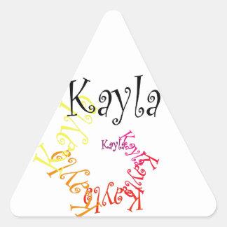 Kayla Triangelformat Klistermärke