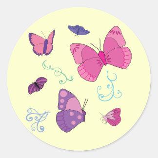 Kaylas fjärilar 2 F Runt Klistermärke