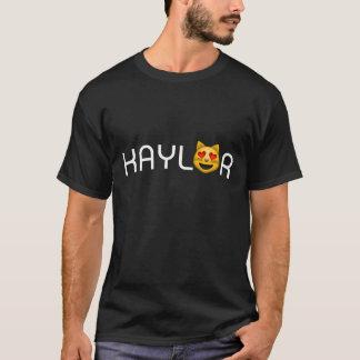 Kaylor tror jag katthjärtaögon Emoji T-shirt