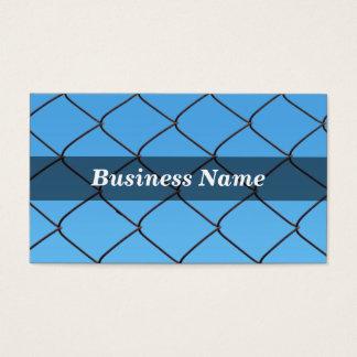Kedja anknyter staket mot klar blå himmel visitkort