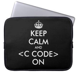 KeepCalm och c kodifierar på Geekhumor för laptop Laptop Fodral
