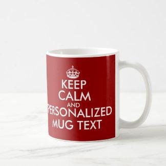 KeepCalm rånar den | Personalizable mallen Vit Mugg