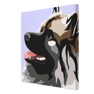 Keeshondhundkonst Canvastryck