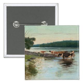 Keinänens sjön beskådar knäppas standard kanpp fyrkantig 5.1 cm
