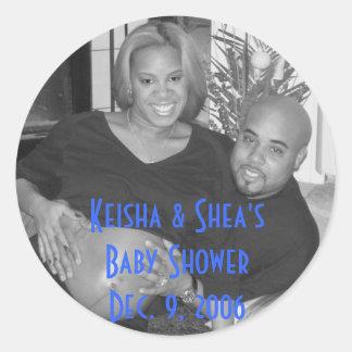 KeiShea, Keisha & sheas baby shower Dec. 9, 2006 Runt Klistermärke