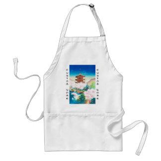 Keisui Pagoda i japanskt orientaliskt landskap för Förkläde
