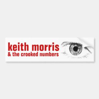 Keith Morris & det krokigt numrerar bildekalet Bildekal