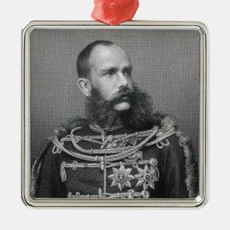 Kejsare Franz Joseph mig av Österrike Julgransprydnad Metall