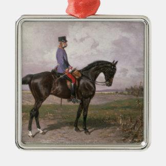 Kejsare Franz Joseph mig på hans österrikiska häst Julgransprydnad Metall