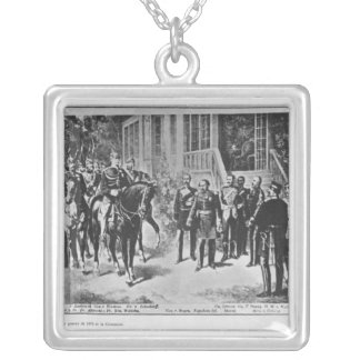Kejsare Napoleon III och Kaiser Wilhelm mig Silverpläterat Halsband