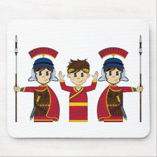 Kejsare och soldater för tecknad romersk musmatta