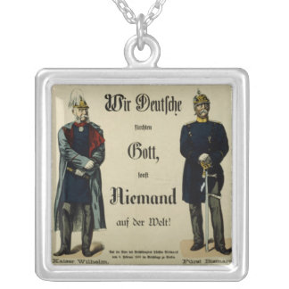 Kejsare Wilhelm mig och Prince Bismarck Silverpläterat Halsband