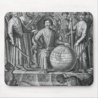 Kejsaren av chinan, frontispiece till en kontonoll musmatta