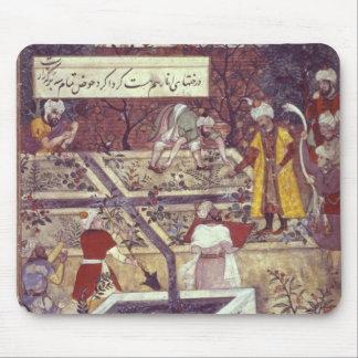 Kejsaren Babur och hans arkitekt planerar Musmatta