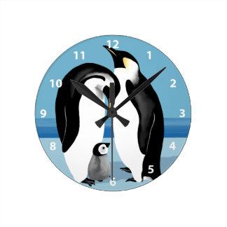 Kejsarepingvinet tar tid på rund klocka