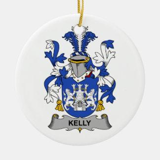 Kelly familjvapensköld julgransprydnad keramik