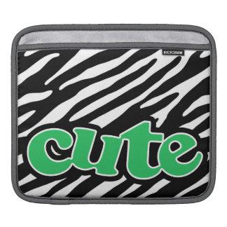 Kelly grön GULLIG zebra tryck iPad Sleeve