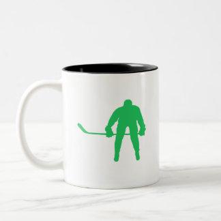 Kelly grön ishockey Två-Tonad mugg