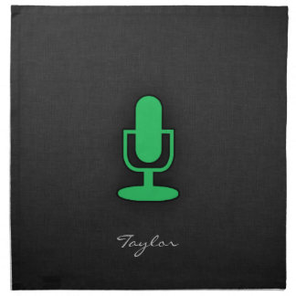 Kelly grön mikrofon tygservett