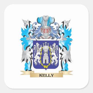 Kelly vapensköld - familjvapensköld fyrkantigt klistermärke