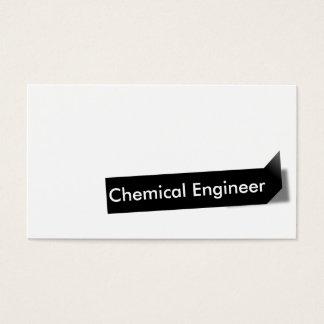 Kemisk ingenjörvisitkort för svart etikett visitkort
