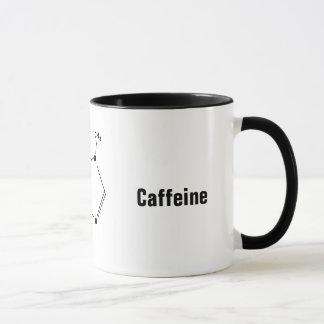 kemisk sammansatt kaffemugg för koffein