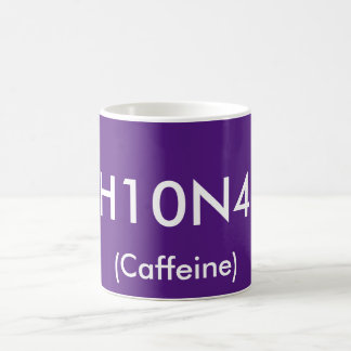 Kemisk symbolmugg för koffein kaffemugg