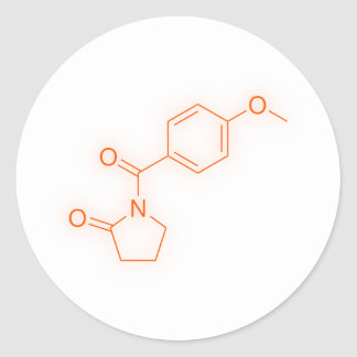 Kemiska Aniracetam strukturerar Runt Klistermärke
