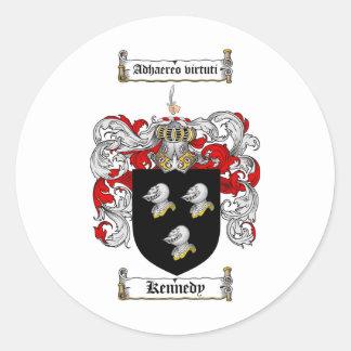 KENNEDY FAMILJVAPENSKÖLD - KENNEDY VAPENSKÖLD RUNT KLISTERMÄRKE