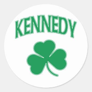 Kennedy irländare runt klistermärke