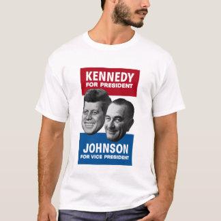 Kennedy och Johnson valplakat 1960 Tee Shirts