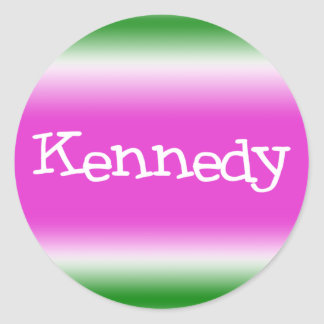 Kennedy Runt Klistermärke