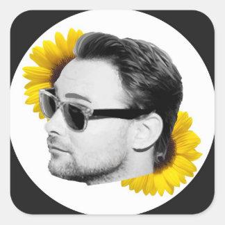 Kenneth Harris solrosklistermärke (räkning 6) Fyrkantigt Klistermärke