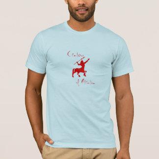 Kentaur av uppmärksamhet t-shirts