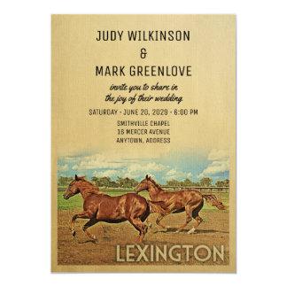 Kentucky för Lexington bröllopinbjudan hästar 12,7 X 17,8 Cm Inbjudningskort