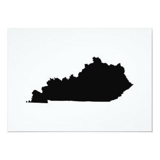Kentucky i svartvitt 12,7 x 17,8 cm inbjudningskort