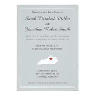 Kentucky kärlek - anpassadebröllopinbjudan 12,7 x 17,8 cm inbjudningskort