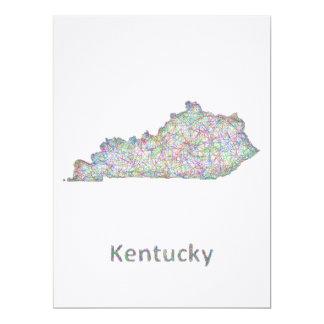 Kentucky karta 16,5 x 22,2 cm inbjudningskort