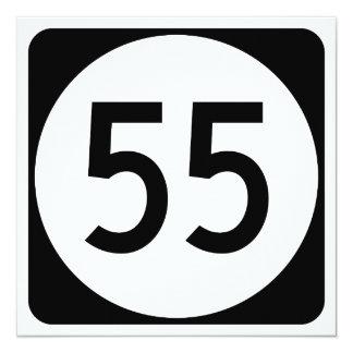 Kentucky rutt 55 fyrkantigt 13,3 cm inbjudningskort