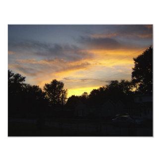Kentucky solnedgångar 10,8 x 14 cm inbjudningskort