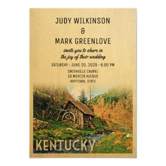 Kentucky som gifta sig den lantliga kabinen för 12,7 x 17,8 cm inbjudningskort