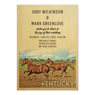 Kentucky som gifta sig inbjudanhästar 12,7 x 17,8 cm inbjudningskort